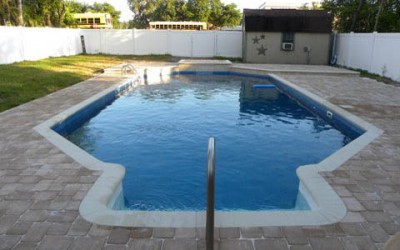 Vinyl Liner Renovation After with Paver Patio