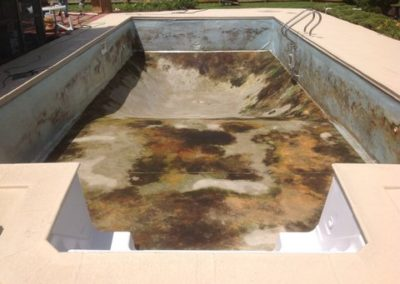 Vinyl Liner Renovation Before